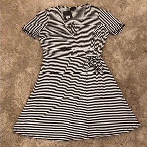 Topshop Striped Wrap Dress NWT